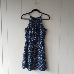 Be cool blue sleeveless floral dress